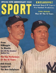 September 1961 Sport Cover (Joe DiMaggio, Micky Mantle, New York Yankees)