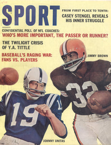 December 1962 Sport Cover (Jim Brown, Cleveland Brown, Johnny Unitas, Baltimore Colts)