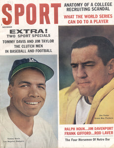 November 1962 Sport Cover (Jim Taylor, Green Bay Packers, Tommy Davis, Los Angeles Dodgers)