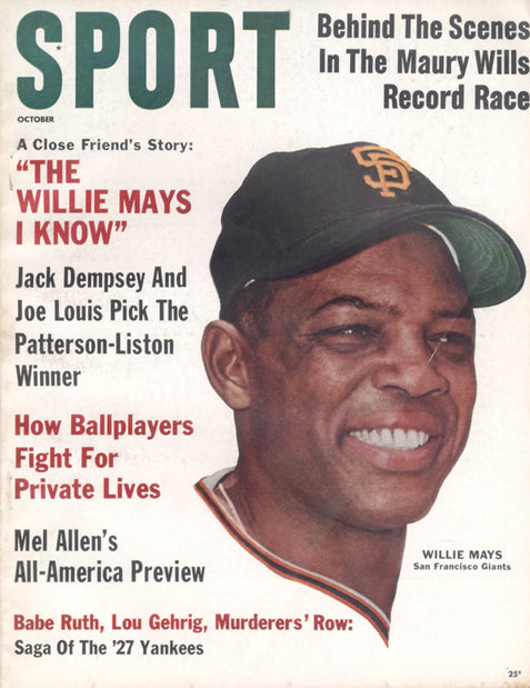 October 1962 Sport Cover (Willie Mays, San Francisco Giants)