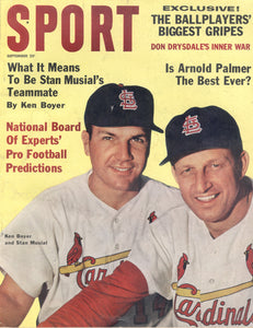September 1962 Sport Cover (Stan Musial and Ken Boyer, Saint Louis Cardinals)