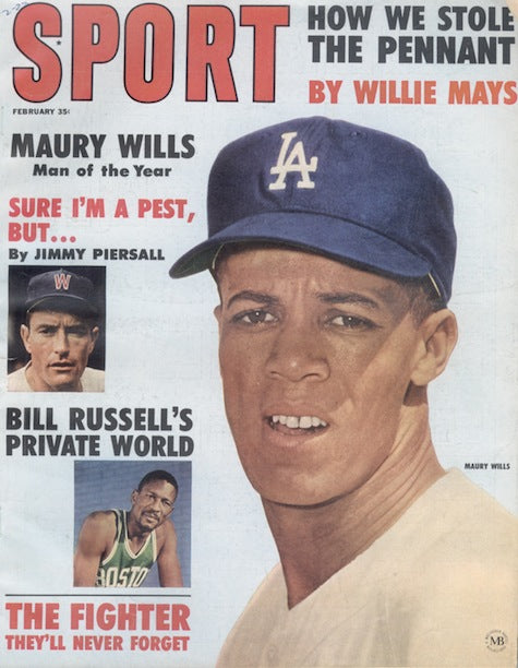 February 1963 Sport Cover (Maury Willis, Los Angeles Dodgers)