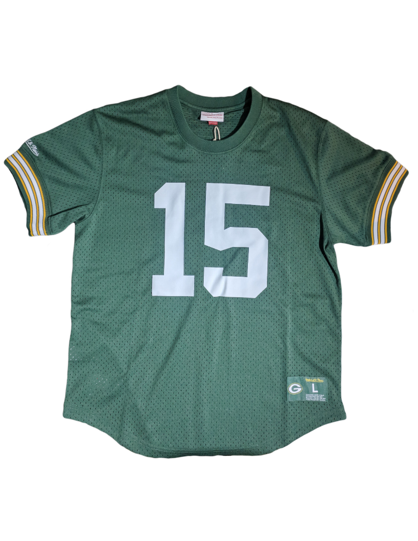 Green Bay Packers 1966 Bart Starr Mesh Crew Neck