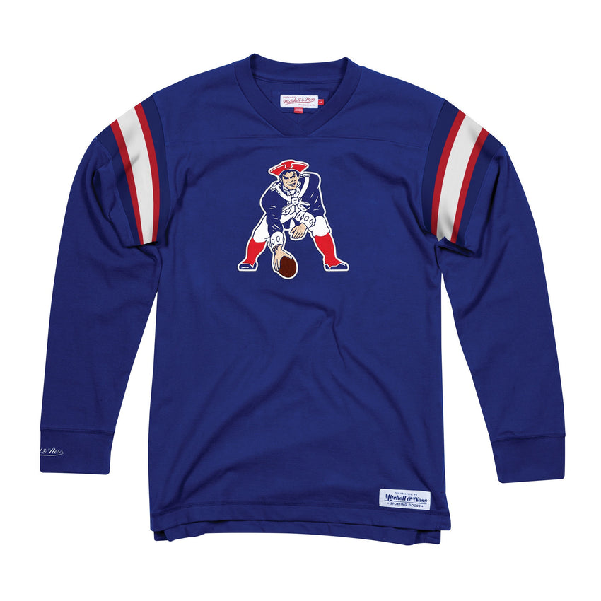 Patriots Team Captain V-Neck LS