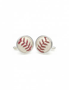 MLB Game-Used Baseball Cufflinks