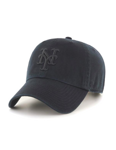 New York Mets All Black Clean Up Hat