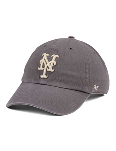 New York Mets Cleanup Hat (Mets Navy Grey)