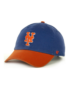 New York Mets Cleanup Hat (Royal Blue & Orange)