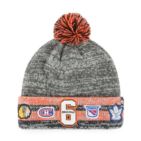 Original Six Grey Henrick Knit Cuff Hat