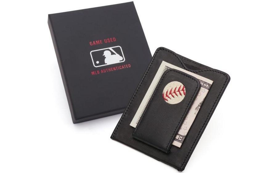 MLB Game-Used Baseball Money Clip