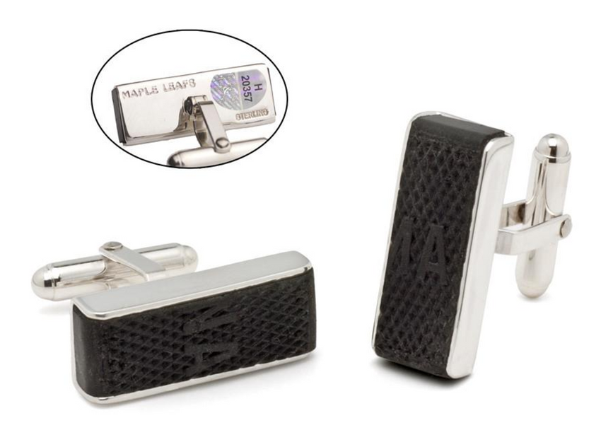 NHL Game-Used Puck Cufflinks