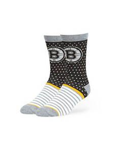 Boston Bruins Willard Flat Knit Socks