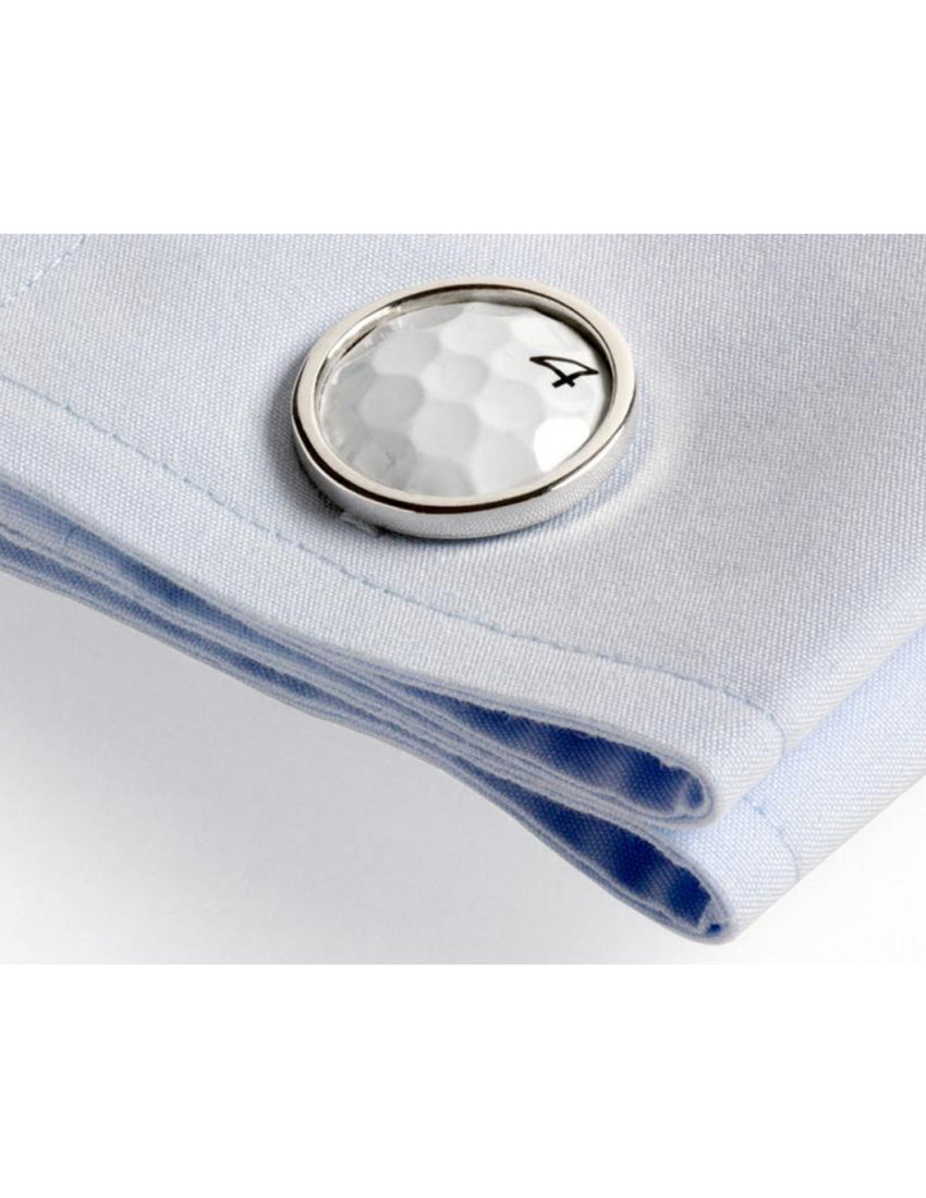 PGA recovered golf ball cuff links