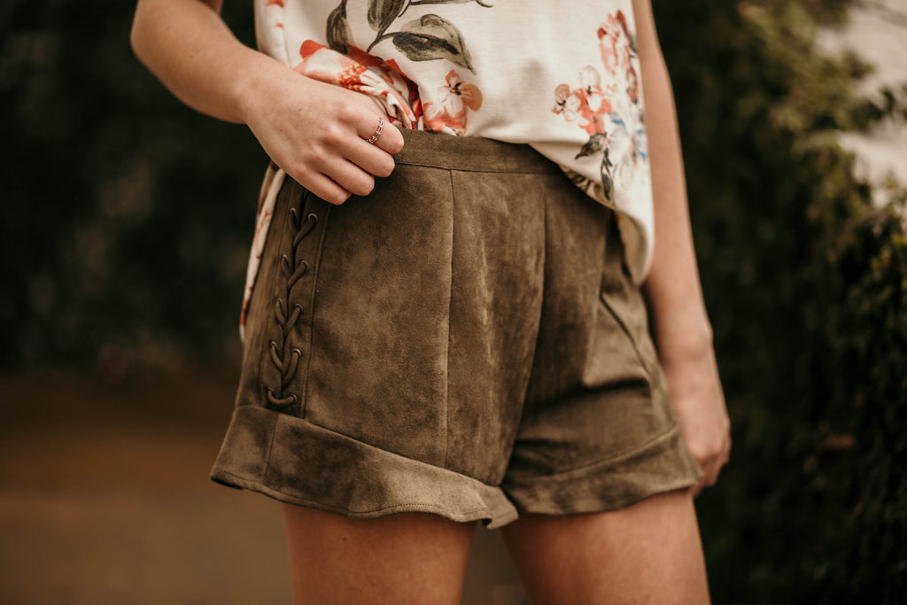 The Serena Shorts, Olive