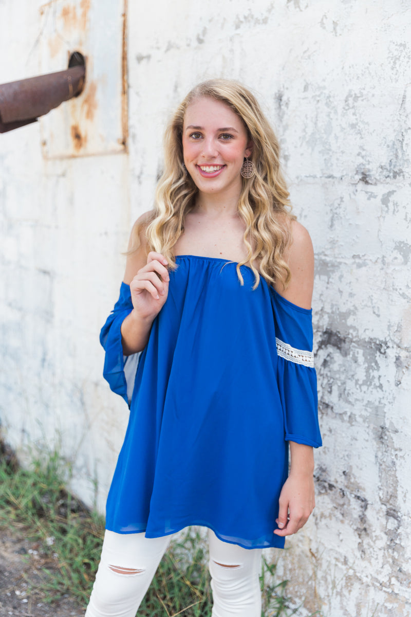 A Night Like This Tunic Dress, Royal Blue