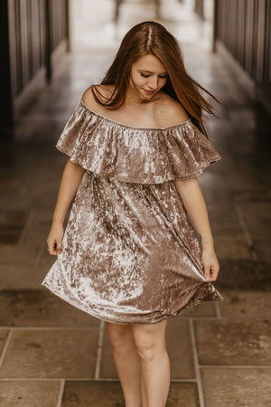 Up All Night Dress, Champagne