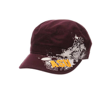Maroon Graphic Cadet Hat with ASU
