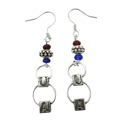 UA Block Earrings - Arizona Wildcats Jewelry