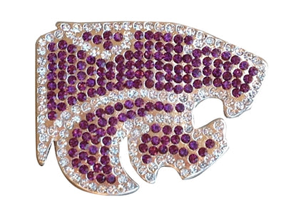 Kansas State University Pin - Crystal Wildcat