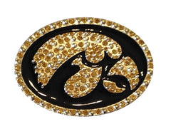Iowa Hawkeyes Gold Crystal Enamel Pin