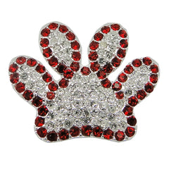 Wildcats Red Crystal Paw Pin