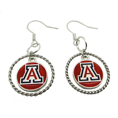Arizona Wildcats A Earrings