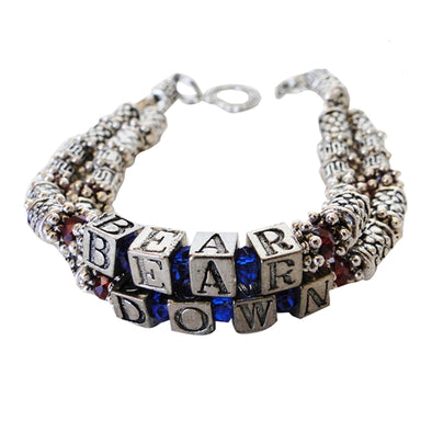 Bear Down Bracelet -Arizona Wildcats Jewelry