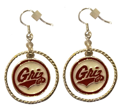 University of Montana Griz Earrings