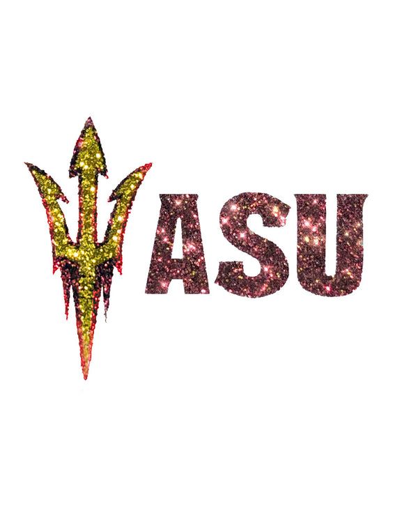 Arizona State Sun Devils ASU Pitchfork Glitter Tattoo 2-pack