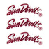 Arizona State Sun Devils Glitter Tattoo 3-pack - LaDivaSport