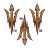 Arizona State Sun Devils Pitchfork Glitter Tattoo 3-pack - LaDivaSport