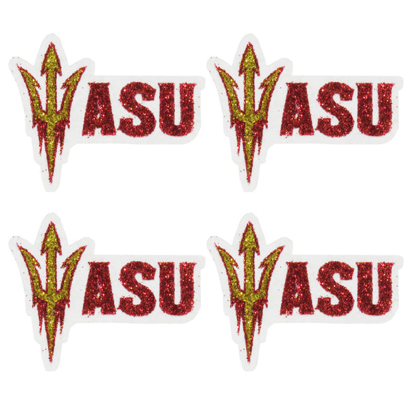 Arizona State Sun Devils ASU Pitchfork Glitter Tattoo 4-pack - LaDivaSport