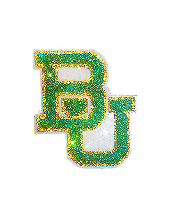 Baylor Bears BU Glitter Tattoo 2-pack