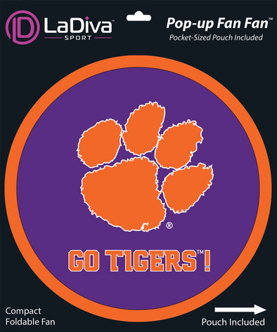 Clemson Tigers Paw Print Cheer Fan