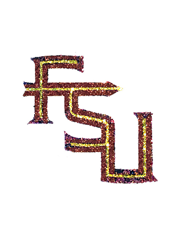 Florida State University LOGO Glitter Tattoo 2-Pack
