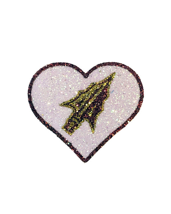 Florida State University Heart Glitter Tattoo 4-Pack
