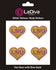 Louisiana State Tigers Heart LSU Glitter Tattoo 4-pack