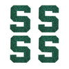 Michigan State Spartans S Glitter Tattoo 4-pack - LaDivaSport