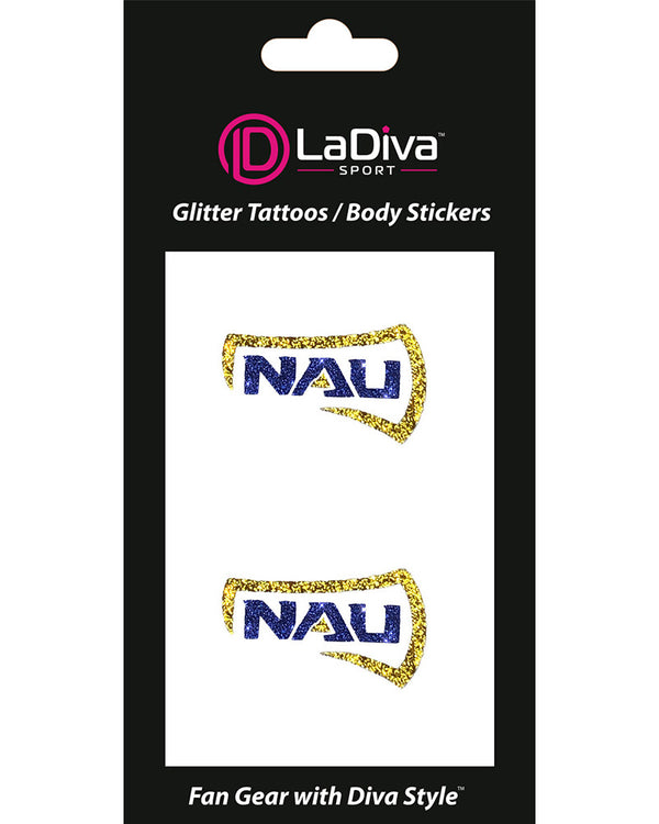 Northern Arizona Lumberjacks NAU Axe Glitter Tattoo 2-pack
