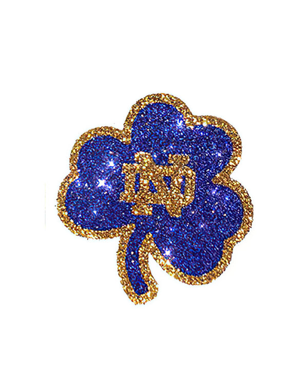 Notre Dame Fighting Irish ND Shamrock Glitter Tattoo 2-pack