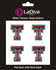 Texas Tech Red Raiders TT Glitter Tattoo 4-pack