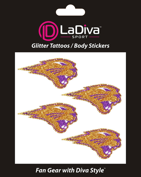 Northern Iowa Panthers Glitter Tattoo 4-pack