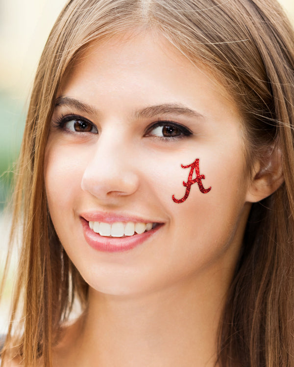 Alabama Crimson Tide A Glitter Tattoo 4-pack
