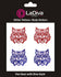 Arizona Wildcats Glitter Tattoo 4-pack