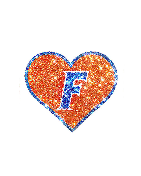 Florida Gators Heart Glitter Tattoo 4-pack