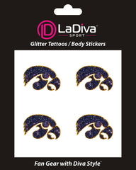 Iowa Hawkeyes Black Hawk Glitter Tattoo 4-pack