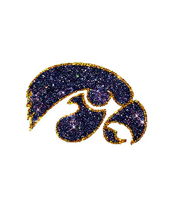 Iowa Hawkeyes Black Hawk Glitter Tattoo 2-pack