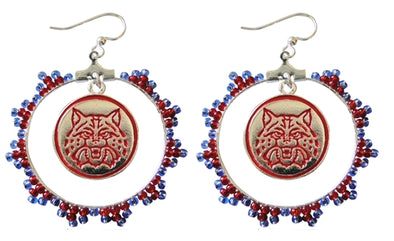 Native Lace Red Wildcat Earrings -  University of Arizona Jewelry