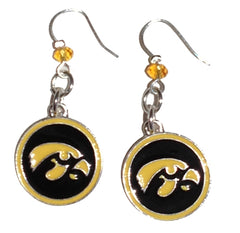 Iowa Hawkeyes Gold Enamel Earrings