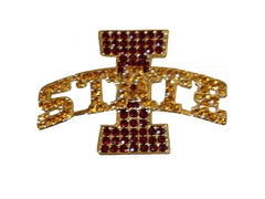 Iowa State Cardinals I State Crystal Pin
